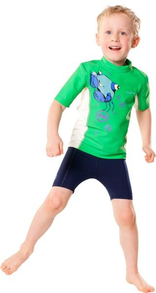 UV Sonnenschutz Shorts 'deep sea' für Kinder mit UPF 80 von hyphen