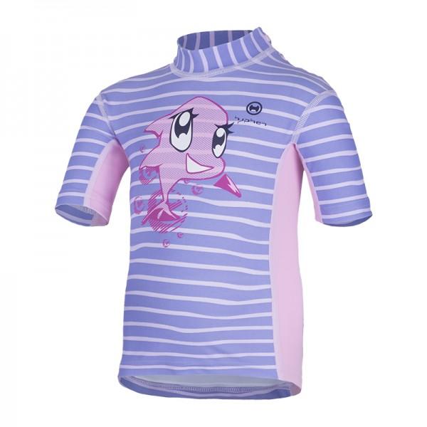 UV Sonnenschutz Kurzarmshirt 'siri striped sweet lave' für Kinder mit UPF 80 von hyphen