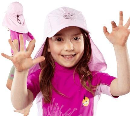 UV  Sonnenhut 'cameo rose' für Kinder mit UPF 80 Grösse 54-56 von hyphen