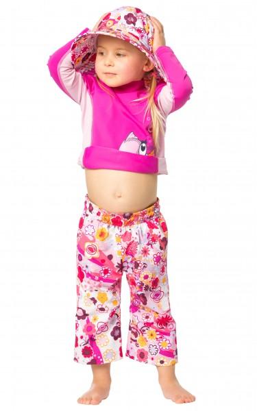 Kinder 3/4 Shorts 'oulu flowers'