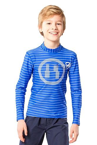 UV Sonnenschutz Langarmshirt 'the H striped cobalt' für Kinder mit UPF 80 von hyphen
