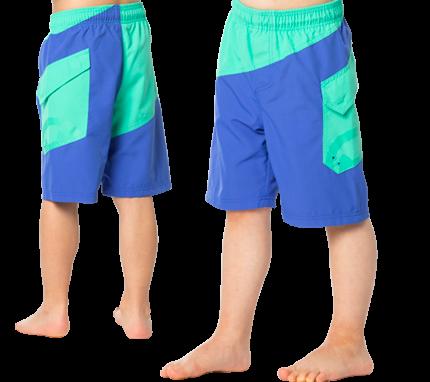 UV Sonnenschutz Badeshorts 'bermuda-cobalt' für Kinder mit UPF 80 von hyphen