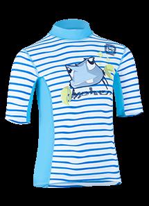 Kinder Kurzarmshirt 'tootie tenk striped ceilo/moloki azur'