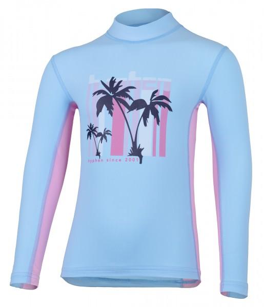 Kinder Langarmshirt karani pid blue/cameo rose mit UPF 80 von Hyphen