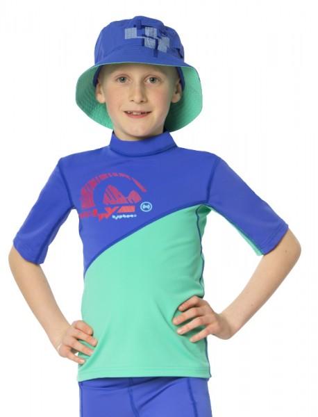 UV Sonnenschutz T-Shirt 'cobalt-bermuda' für Kinder mit UPF 80 von hyphen