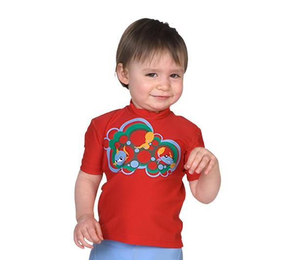 UV Sonnenschutz Kurzarmshirt 'trio' für Kinder mit UPF 80 von hyphen