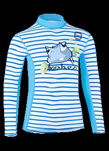 Kinder Langarmshirt tootie tenk striped ceilo/moloki azur' mit UPF 80 von Hyphen