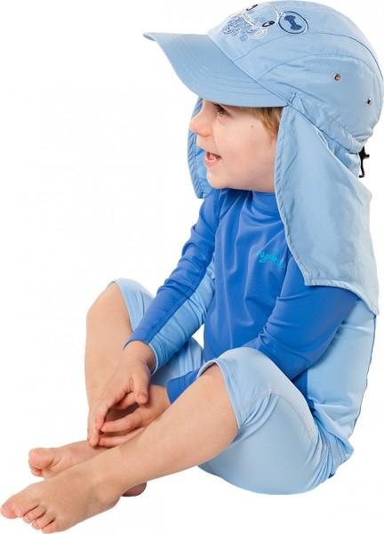 UV  Sonnenhut 'ocy pid blue' für Kinder mit UPF 80 Grösse 46-48 von hyphen