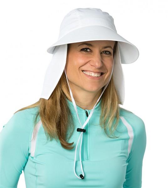 UV  Sonnenhut 'white' für Erwachsene mit UPF 80 Grösse 54-60 von hyphen