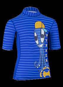 Kinder Kurzarmshirt 'yip hip ike striped cobalt/cobalt'