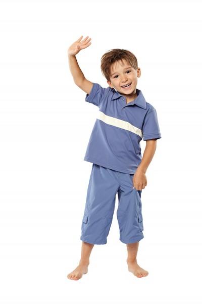 UV Sonnenschutz Kurzarm Poloshirt 'zaffira blue' für Kinder mit UPF 40 von hyphen