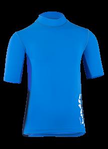 Kinder Kurzarmshirt 'co cielo/cobalt blue iris'von Hyphen mit UPF 80