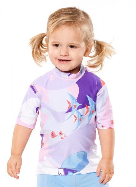 UV Sonnenschutz Kurzarmshirt 'waterworld 'liliati' für Kinder mit UPF 80 von hyphen