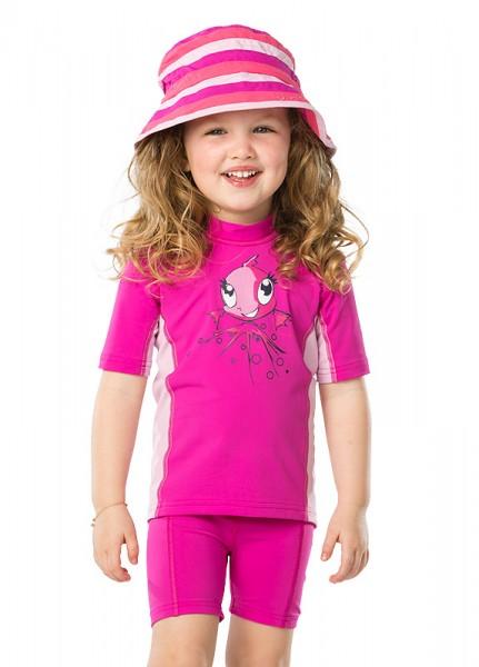 UV Sonnenschutz Kurzarmshirt 'zoe baton rouge' für Kinder mit UPF 80 von hyphen