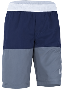 Kinder Shorts 'white blue iris/pinto' von Hyphen mit UPF 80