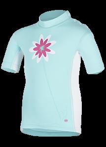 Kinder-Kurzarmshirt 'maribel caribic/white'