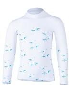 Kinder Langarmshirt 'birdy white' mit UPF 80 von Hyphen