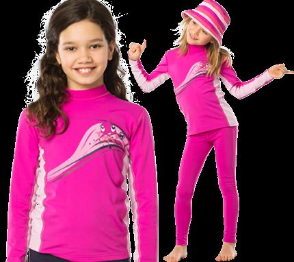 UV Sonnenschutz Langarmshirt 'zoe baton rouge' für Kinder mit UPF 80 von hyphen