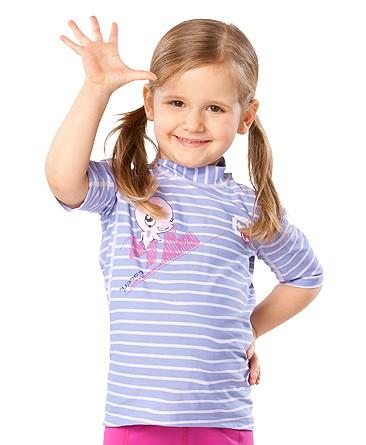 UV Sonnenschutz Kurzarmshirt 'ocydoky striped' für Kinder mit UPF 80 von hyphen in diversen Grössen
