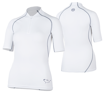hyphen Frauen Kurzarmshirt ''satao moloki azur' mit UPF 80 UV Standart 801