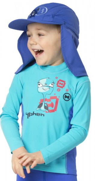 Sonnenschutz Langarmshirt 'turli azurito' für Kinder mit UPF 80 von hyphen