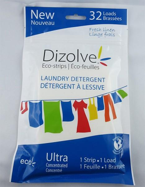 Dizolve Waschmittel-Streifen mit Frischeduft - 32x waschen