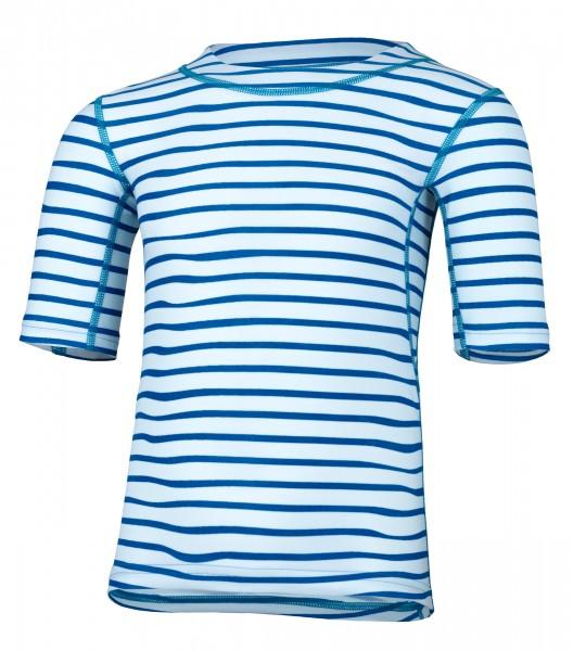 Kinder Kurzarmshirt 'striped capri' mit UPF 80 von Hyphen