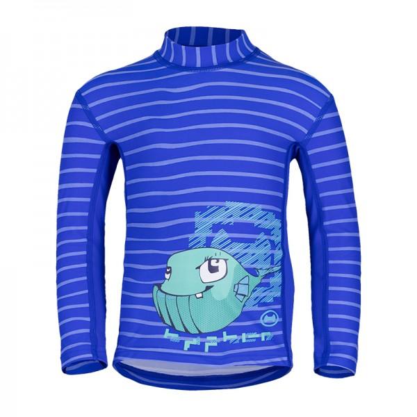 UV Sonnenschutz Langarmshirt 'wali lu striped cobalt' für Kinder mit UPF 80 von hyphen