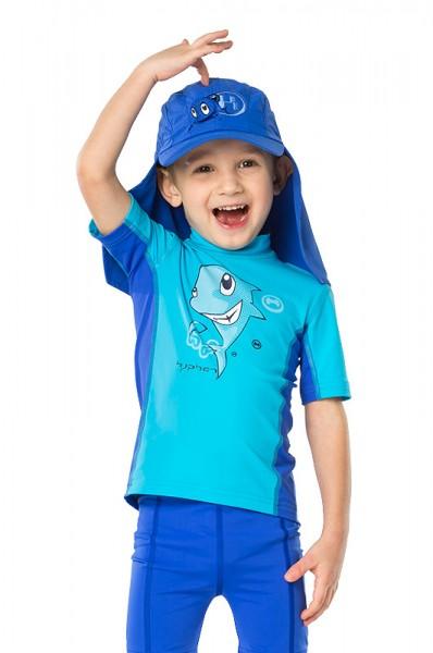 UV Sonnenschutz Kurzarmshirt 'sharky azurito'  für Kinder mit UPF 80 von hyphen