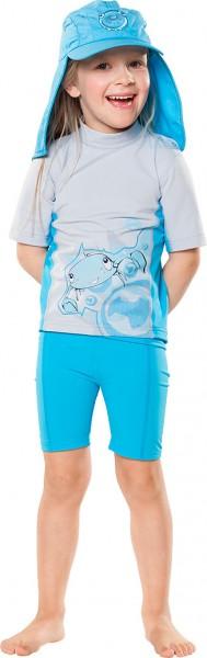 UV Sonnenschutz Kurzarmshirt 'ike yeppon silvermoon' für Kinder mit UPF 80 von hyphen