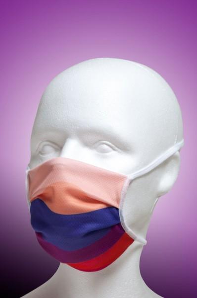 Mund-Nase-Maske Kinder mit Nasenbügel 2-lagig von Hyphen, farbig mit UPF 80