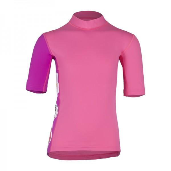 UV Sonnenschutz Kurzarmshirt 'itenkie striped sweet lave' für Kinder mit UPF 80 von hyphen