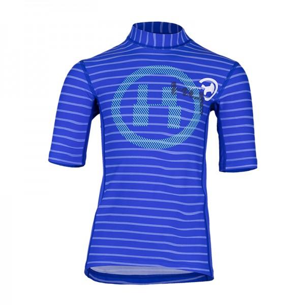 UV Sonnenschutz Kurzarmshirt 'striped cobalt' für Kinder mit UPF 80 von hyphen