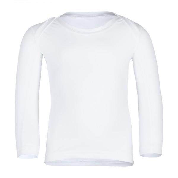 Kinder Langarmshirt 'Shellshirt white' mit UPF 80 von hyphen