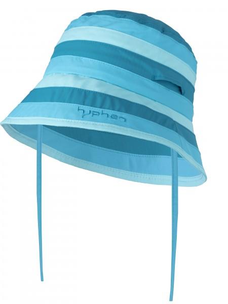 UV  Sonnenhut stripes azur` für Kinder und Erwachsene mit UPF 80 Grösse 54-56 von hyphen