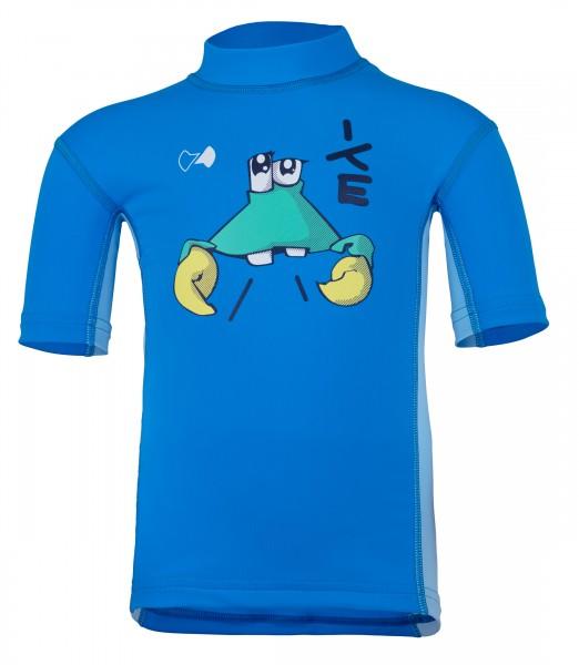 Kinder Kurzarmshirt 'ike cielo / pid blue' mit UPF 80 von Hyphen