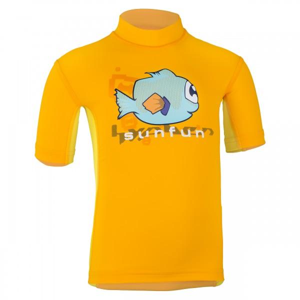 Kinder-Kurzarmshirt 'tek taru tangerine/amarit'