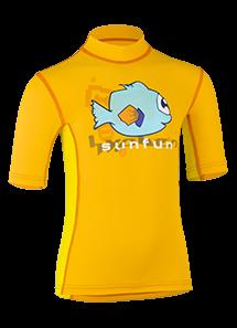 Kinder Kurzarmshirt 'tektaru tangerine/amari'