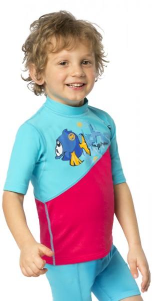 UV Sonnenschutz Kurzarmshirt 'tek azurito-azao' für Kinder mit UPF 80 von hyphen