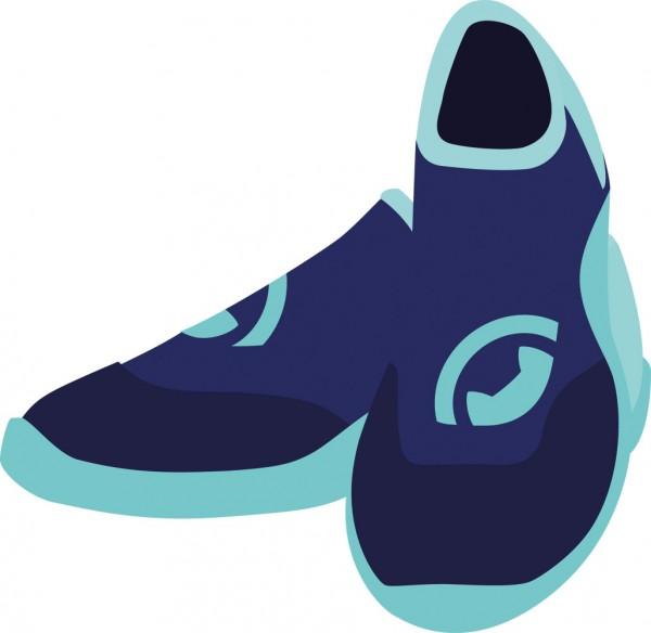 Neopren Schuhe 'blue iris'