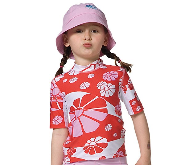 UV Sonnenschutz Kurzarmshirt 'flowerpower' für Kinder mit UPF 80 von hyphen