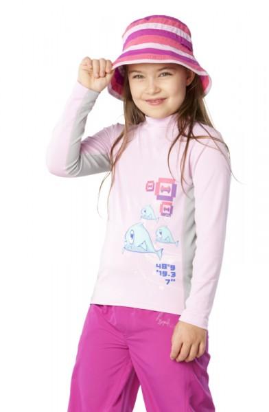 UV Sonnenschutz Langarmshirt 'beckoneer cameo rose' für Kinder mit UPF 80 von hyphen