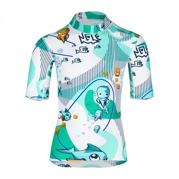 UV Sonnenschutz Kurzarmshirt 'waterworld' für Kinder mit UPF 80 von hyphen