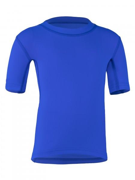 Kinder Kurzarmshirt 'cobalt' mit UPF 80 von Hyphen