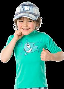 UV Sonnenschutz T-Shirt 'peru the star bermuda' für Kinder mit UPF 80 Marke hyphen