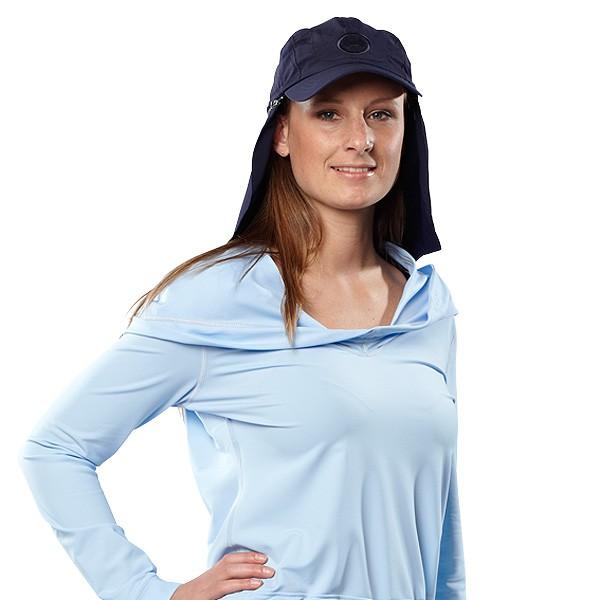 UV Sonnenschutz Langarmshirt 'pid blue' 50496 für Frauen mit UPF 80 von hyphen