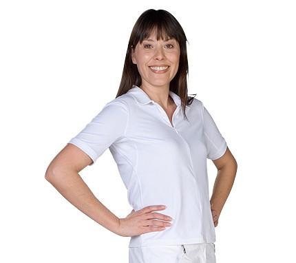 UV Sonnenschutz Kurzarmshirt 'white' 50479 für Frauen mit UPF 80 von hyphen
