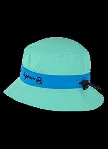 UV Sonnenhut 'bermuda' grün mit blauem Rand für Kinder mit UPF 80 Grösse 46-48 von hyphen