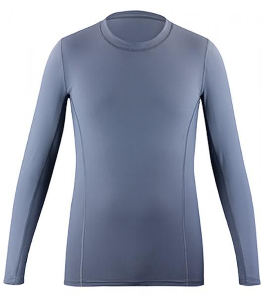 UV Sonnenschutz Langarmshirt 'pintoo' in grau für Herren mit UPF 80 von hyphen