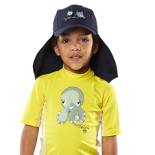 UV  Sonnenhut 'syc deep sea' für Kinder mit UPF 80 Grösse 46-48 von hyphen